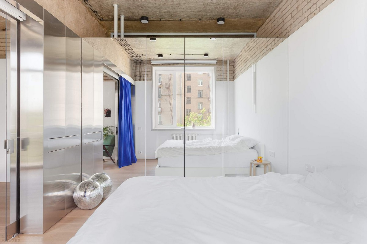 Интерьер современной квартиры-студии в Москве