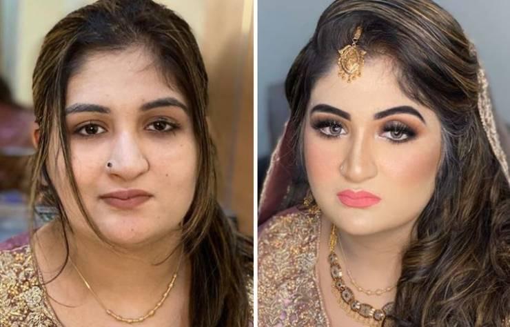 Свадебный макияж сильно меняет женщин: до и после