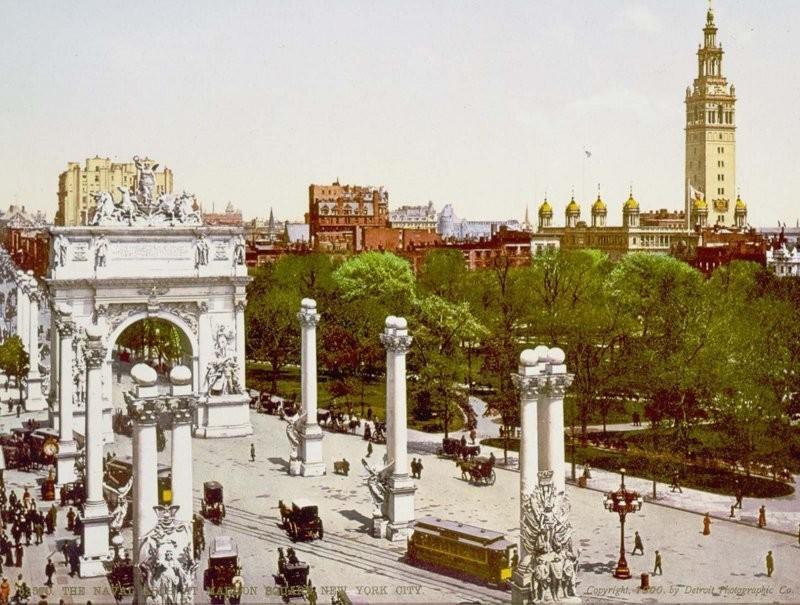 Потрясающие фотохромные открытки Нью-Йорка 1900-х годов