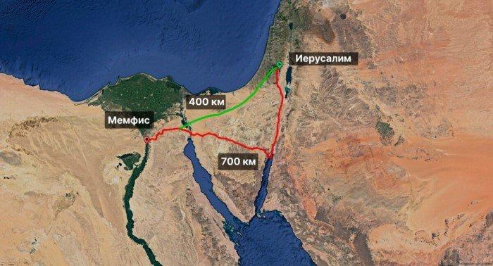 Почему Моисей водил евреев по пустыне целых 40 лет?