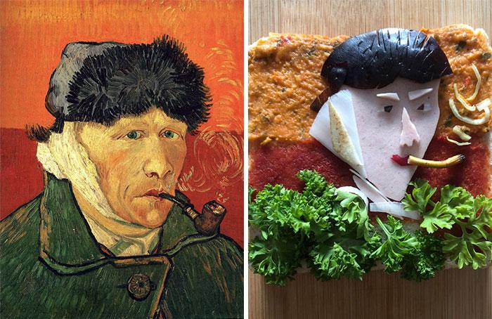 Люди воссоздают знаменитые картины при помощи бутербродов