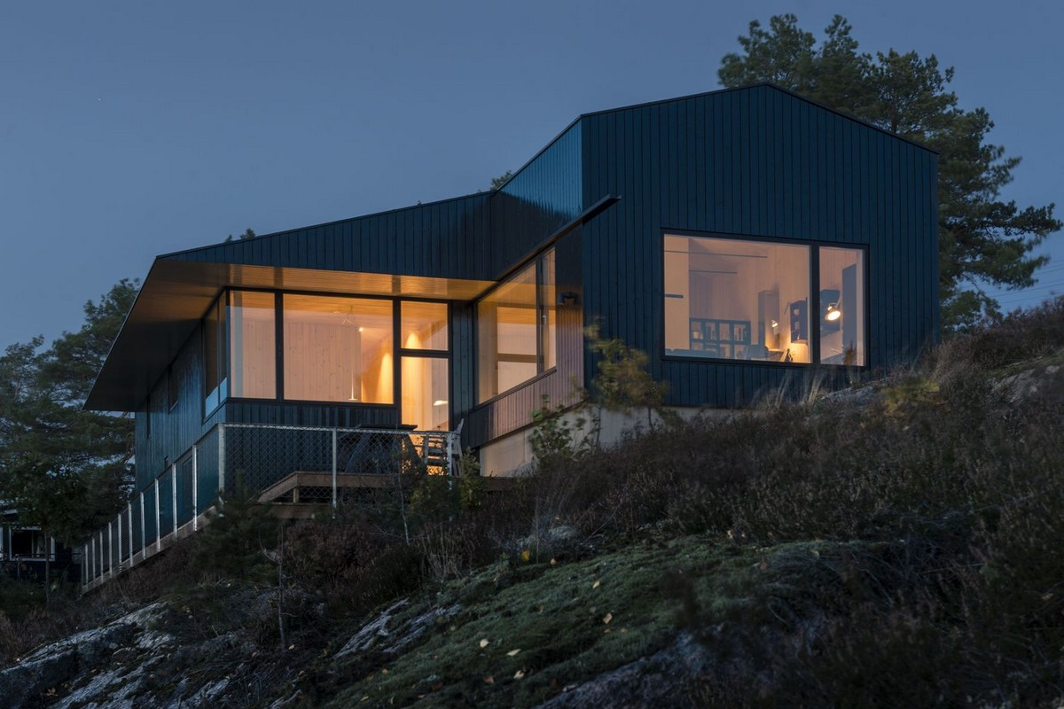 Загородный дом на берегу залива в Норвегии Картинки и фото