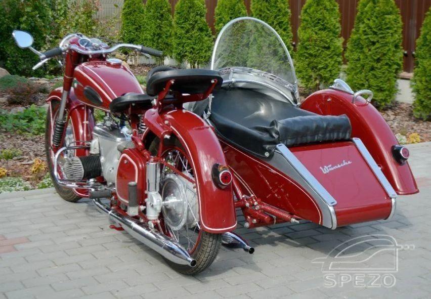 Двухтактный оппозитный мотоцикл IFA BK-350 из ГДР