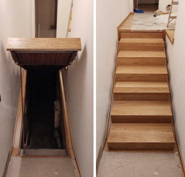 Итальянцы нашли тайную комнату под лестницей в новом доме