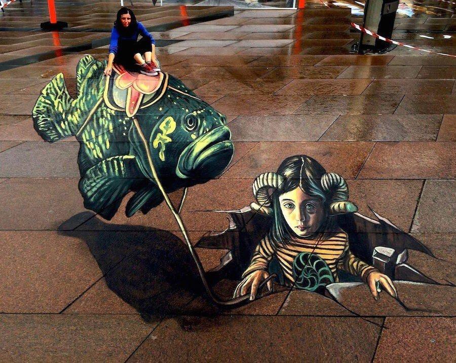 Удивительные уличные 3D-рисунки от Vera Bugatti
