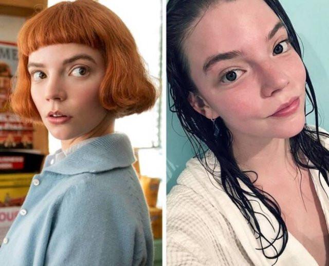 Западные знаменитости на снимках с макияжем и без