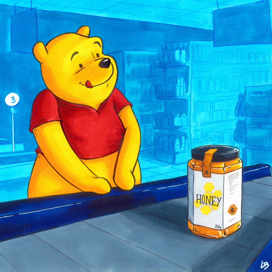 Что известные персонажи купили бы в супермаркете