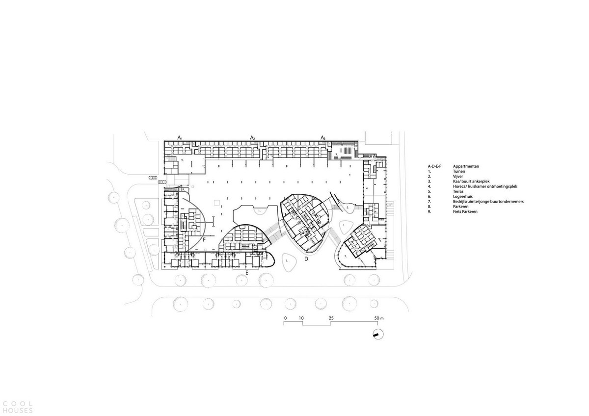 Современный жилой комплекс в Нидерландах