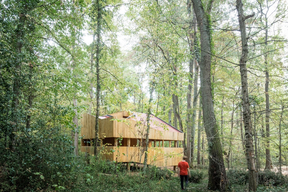 Полностью деревянный дом во Франции Картинки и фото