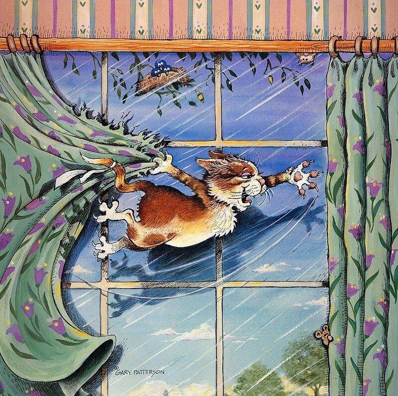 Гэри Паттерсон и его прекрасные картины с кошками