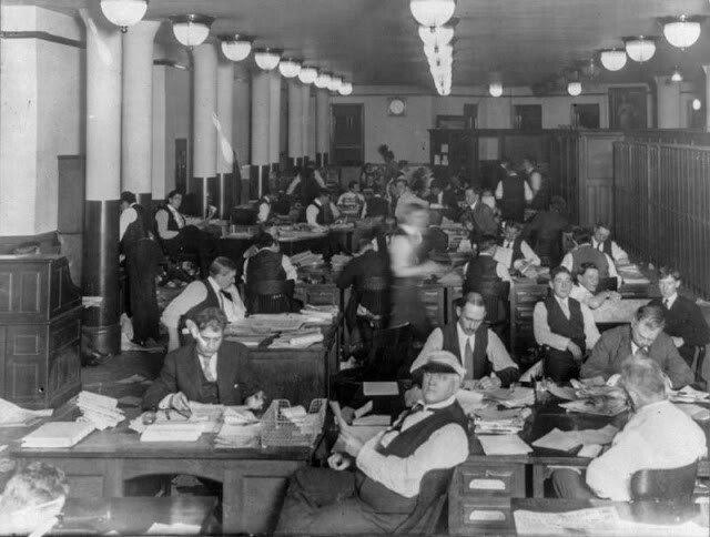 Как работали в открытом офисе сто лет назад