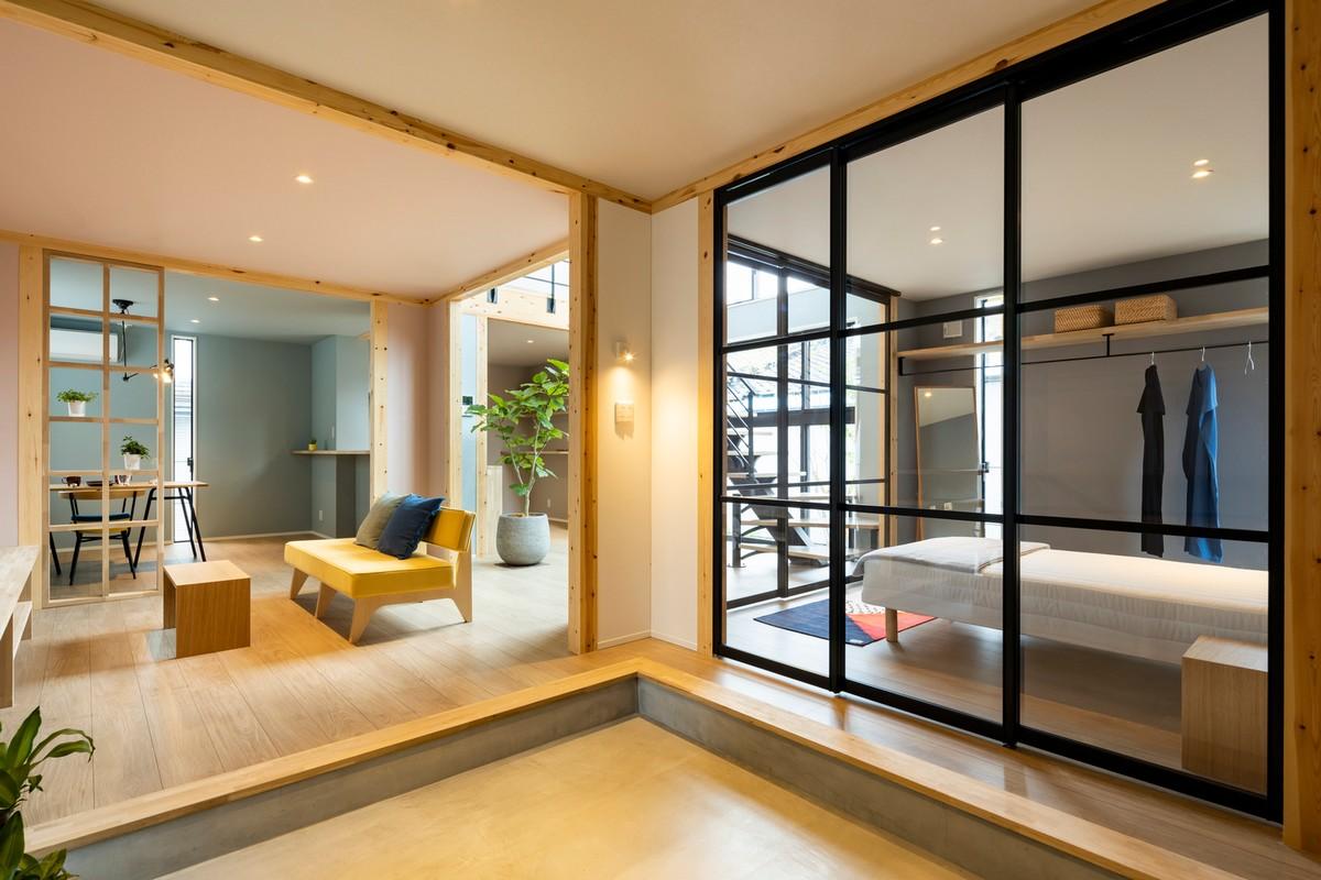 Изменяющийся модульный дом в Японии