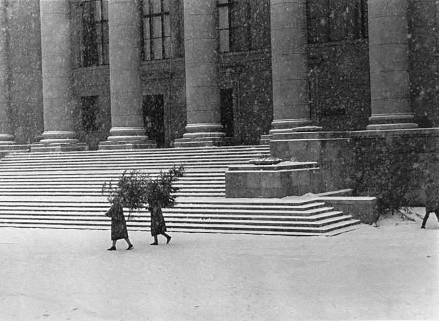 Настоящая зима на советских ретро-снимках