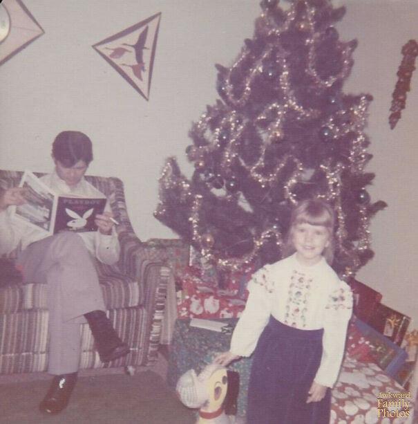 Странные рождественские снимки из семейных альбомов