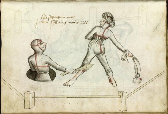 Иллюстрированное пособие как избивать женщин XV столетия