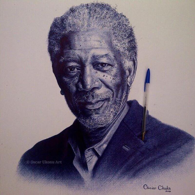Невероятно реалистичные портреты, нарисованные шариковой ручкой