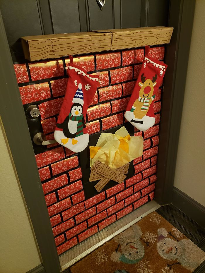 Забавные примеры креативного новогоднего декора