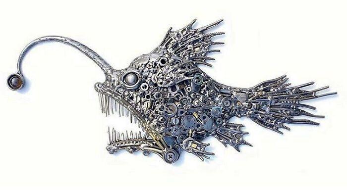 Американский художник превращает металлолом в произведения искусства