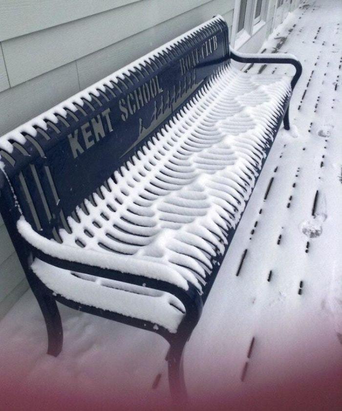Зимние художества, созданные самой природой