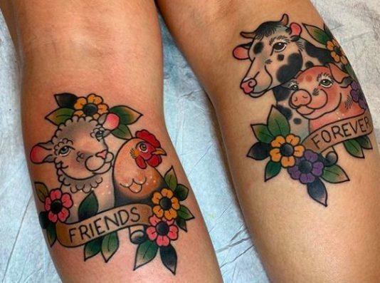 Говорящие веганские татуировки