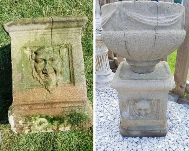 Снимки предметов и мест до и после приведения в порядок