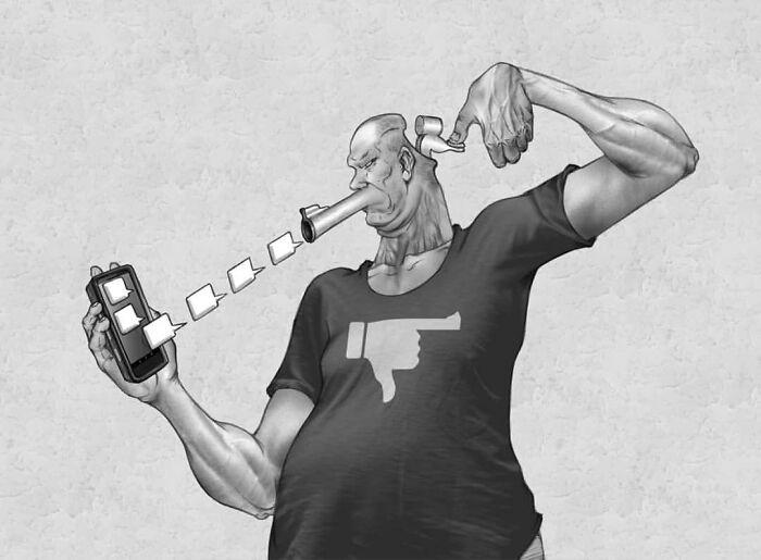 Проблемы современного общества в иллюстрациях художника Al Margen
