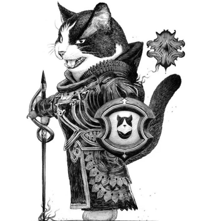 Пушистые рыцари в иллюстрациях японского художника