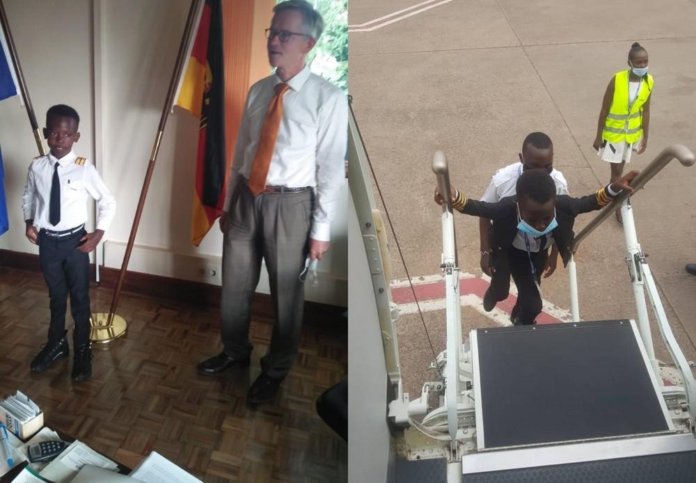 Семилетний мальчик-пилот из Уганды