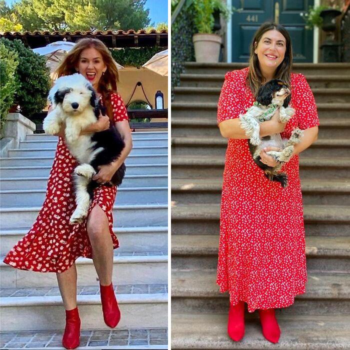 Пышнотелая американка воссоздаёт стильные образы знаменитостей