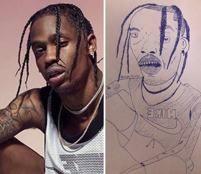 Гротескные карикатурные портреты знаменитостей
