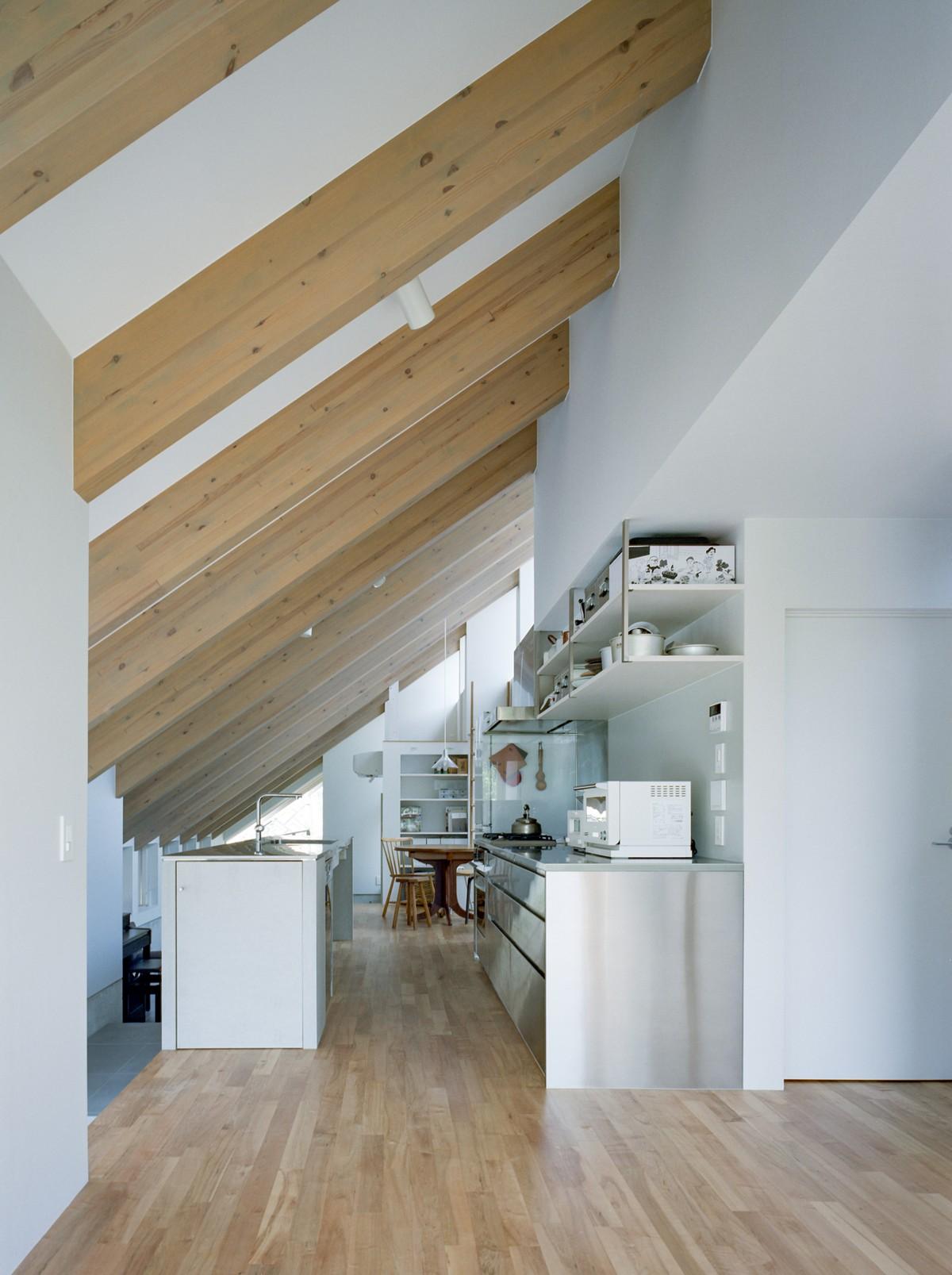 Дом с односкатной крышей в Японии
