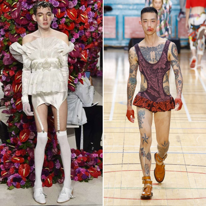 Причудливая современная мужская мода