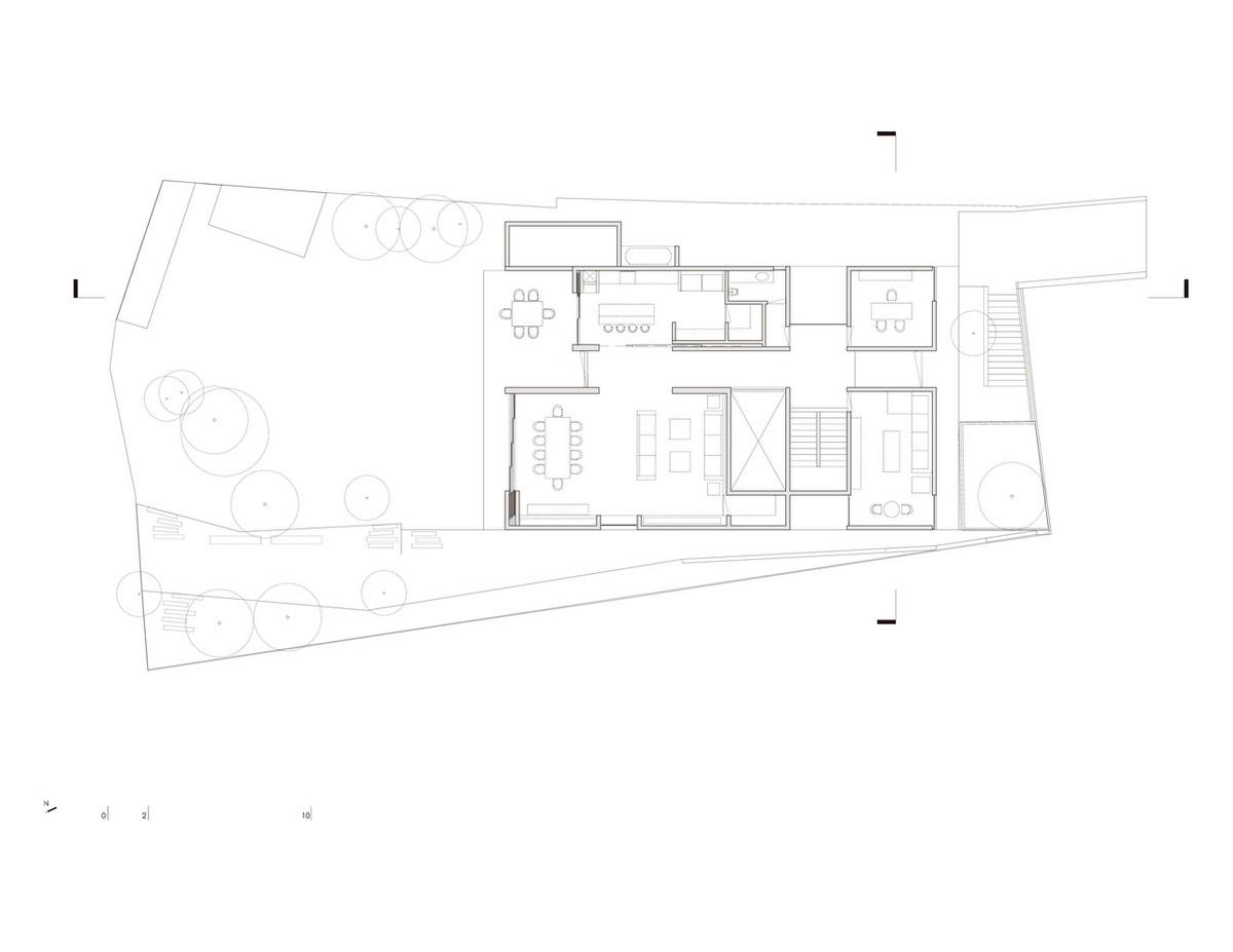 Загородный дом из кирпича и бетона в Мексике