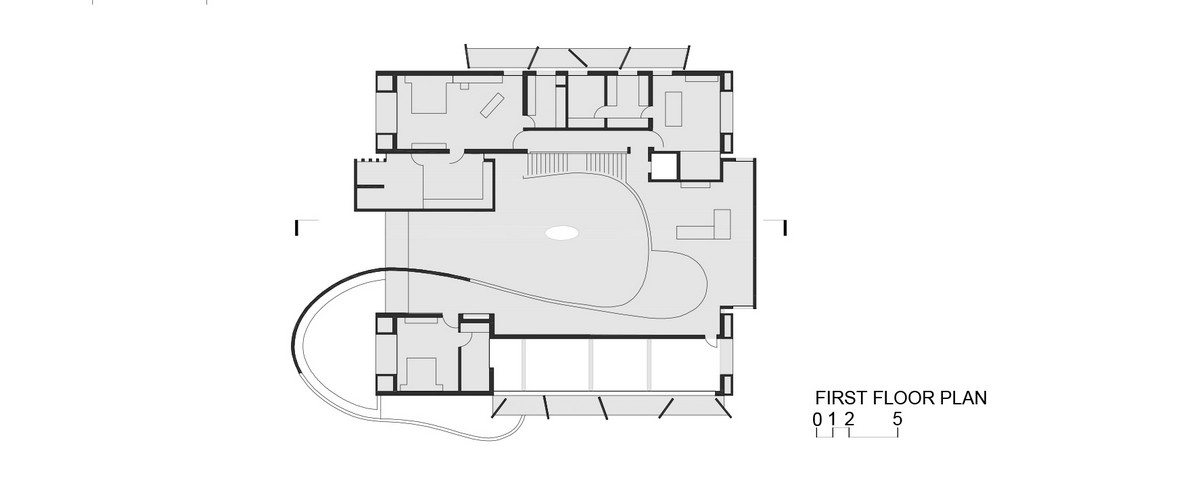 Стильная бетонная резиденция в Индии