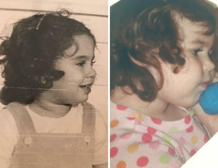 Примеры поразительного сходства между родственниками
