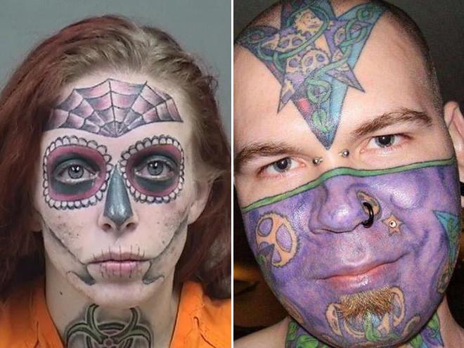 Примеры странных и неудачных татуировок на лице