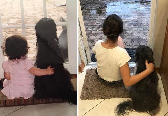 Сильная связь детей и собак на снимках