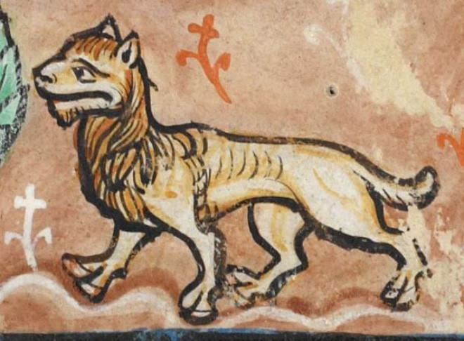 Как рисовали львов художники Средневековья