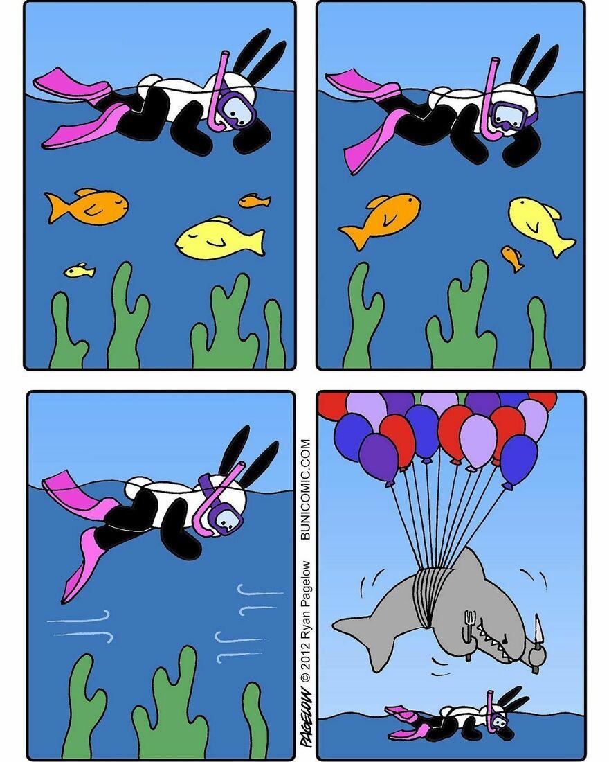 Милые и одновременно мрачные комиксы от Райана Пейджлоу