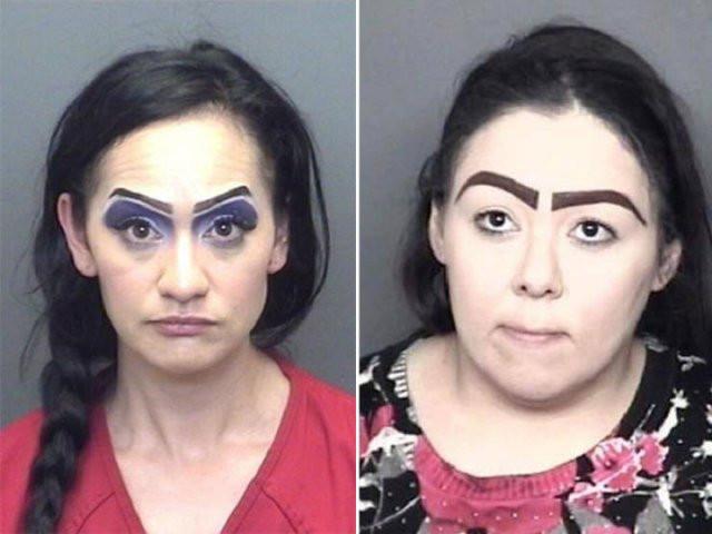 Снимки лиц нарушителей с безумными бровями