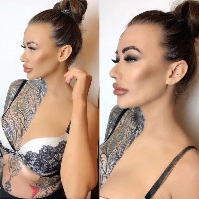 Беки Холт - самая татуированная девушка в Великобритании