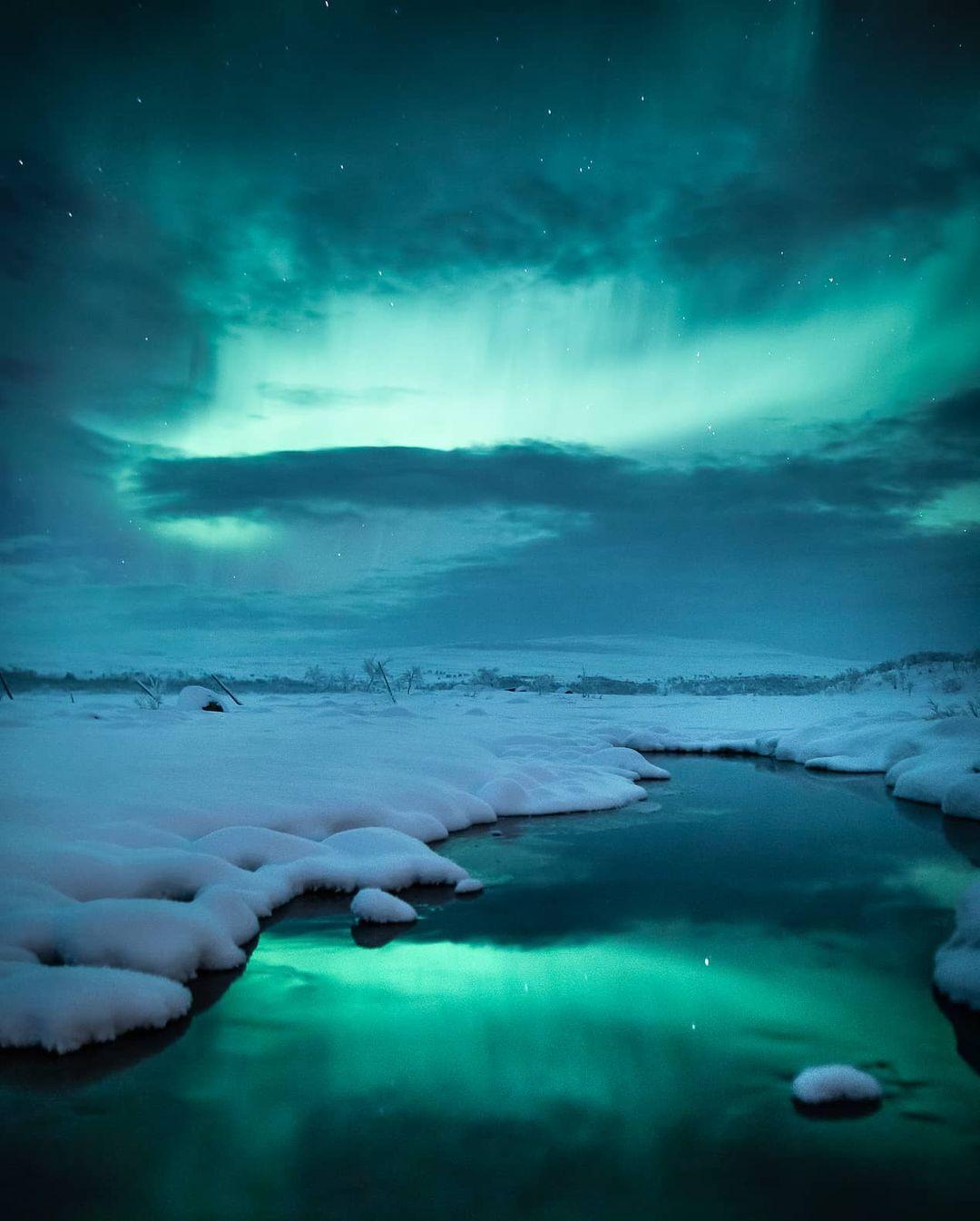 Красота северного сияния на снимках Микко Ристамяки
