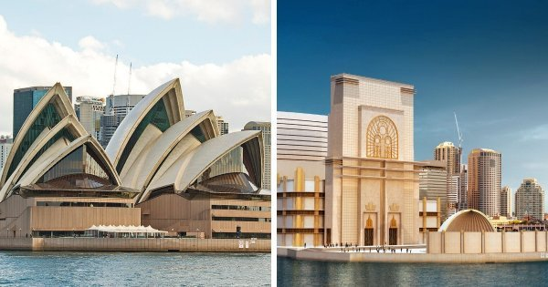 Возможные варианты дизайнов всемирно известных сооружений