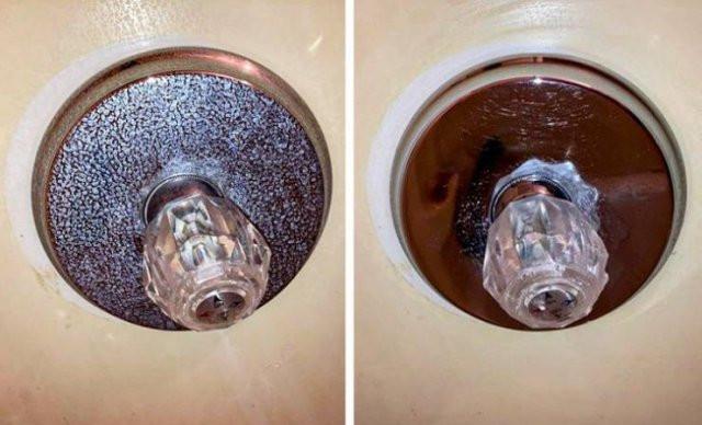 Вещи на сравнительных снимках до и после чистки