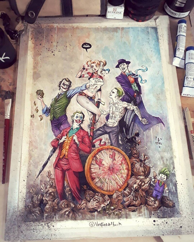 Художник показывает темные стороны популярных персонажей