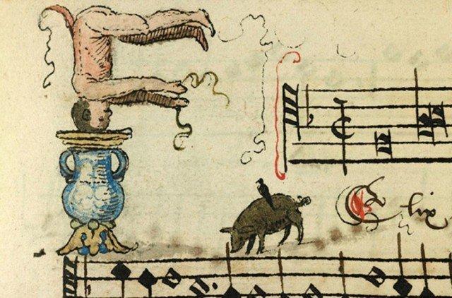 Забавные картинки из средневекового сборника песен