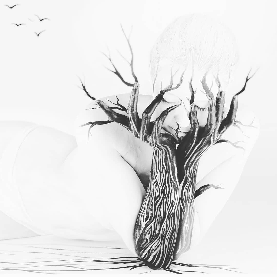 Головокружительные боди-арт–иллюзии от Гезине Марведель