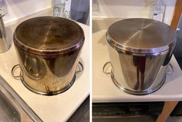 Работа аккуратистов на снимках вещей до и после чистки