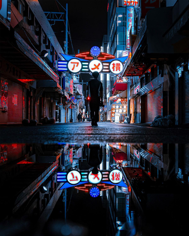 Улицы Токио на снимках от Казуя Мияхара