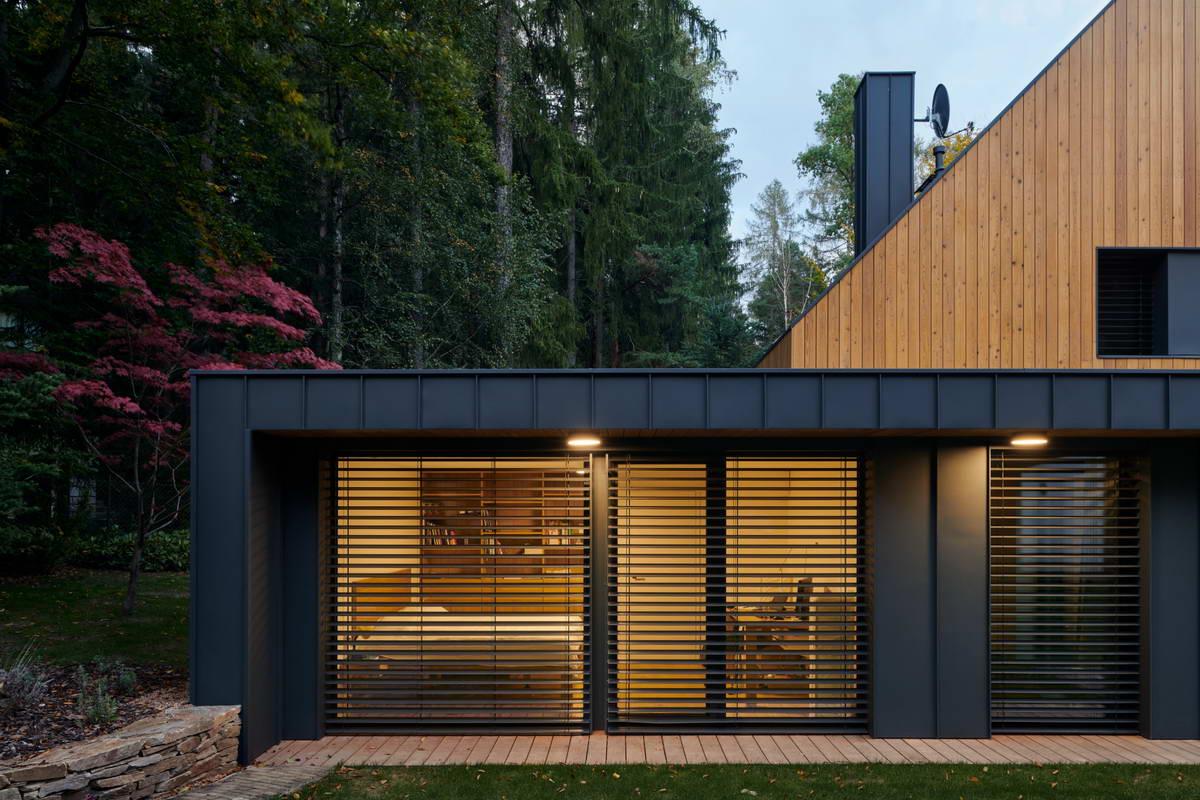 Лесной семейный дом для отдыха недалеко от Праги